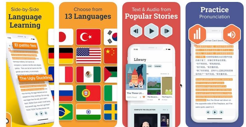 $39.99 Beelinguapp Language Learning App Lifetime Subscription