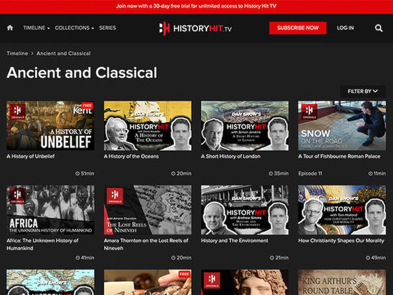 $39.99 History Hit TV 1-Year Subscription