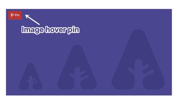 Novashare WordPress Plugin Pinterest image hover pins