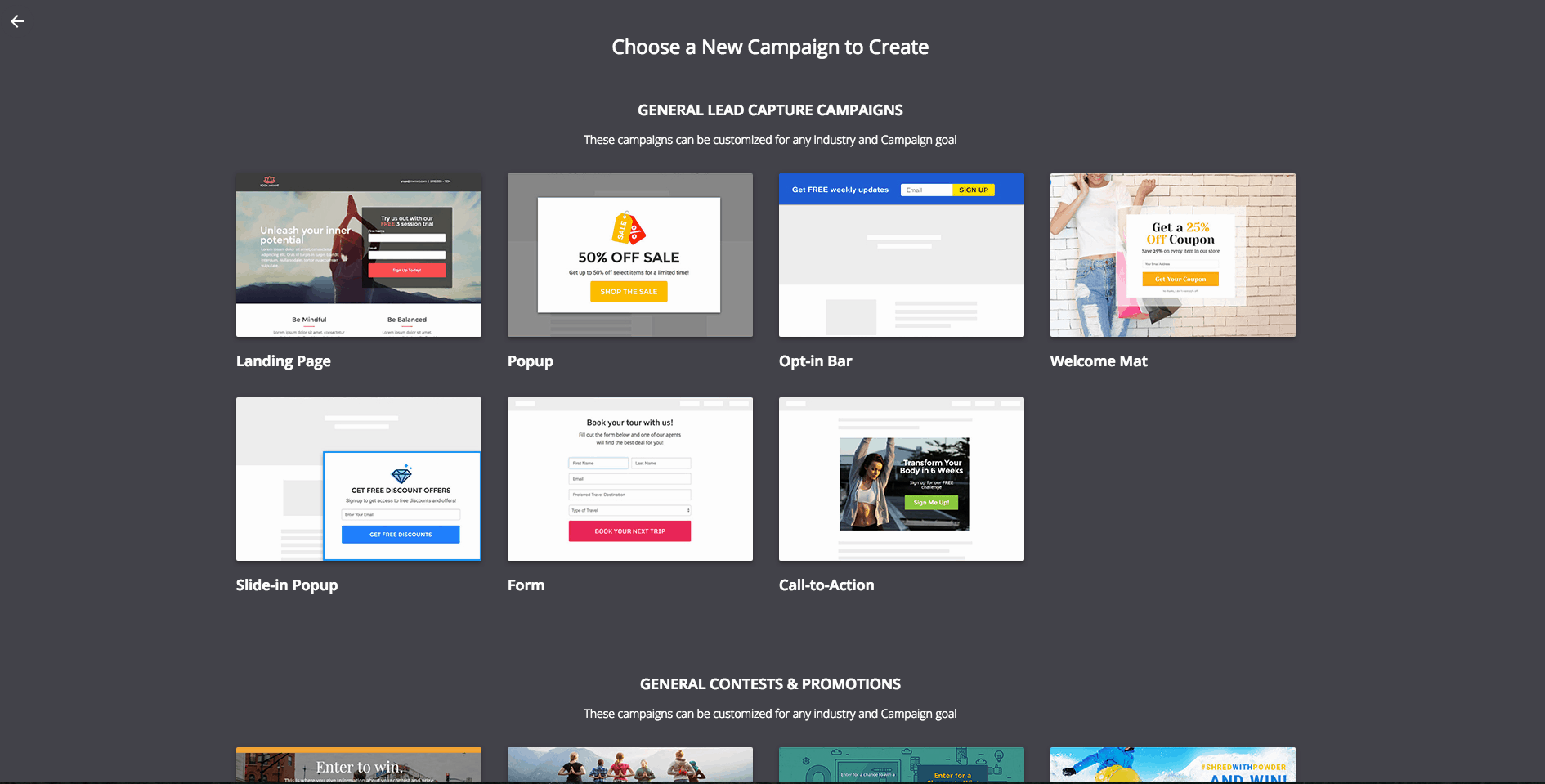 wishpond Optimize your landing page with pop-ups, welcome mats, and opt-in bars