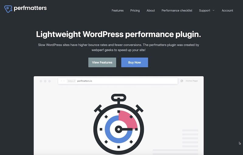 2021's January, 15% Off Perfmatters WordPress Plugin